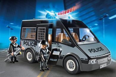 Playmobil Όχημα Μεταφοράς Κρατούμενων Με Φωτεινό Φάρο (6043). Με αποσπώμενη οροφή και χώρο για έως και 7 φιγούρες. Για...