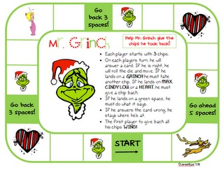 Great GRINCH game for practicing any flashcards.