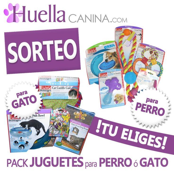 SORTEO de PACK REGALO JUGUETES PERRO ó GATO  HuellaCanina.com