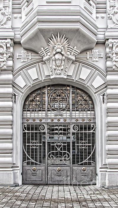A grand Entrance to a grand building in the art nouveau district of Riga in Latvia. Please click the 'LIKE' & 'VOTE' icon if you really like this image enough to repin it. Thanks.