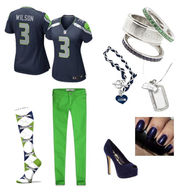 Seattle Seahawks by busyvegetarianmom, via Polyvore