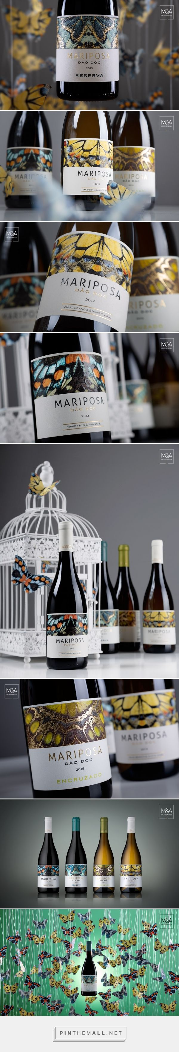 Quinta da Mariposa wine label design by M&A Creative Agency - http://www.packagingoftheworld.com/2017/02/quinta-da-mariposa.html