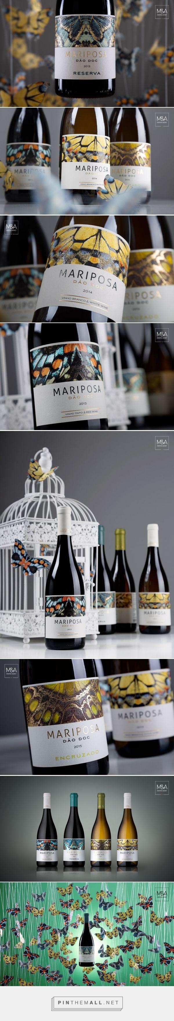 Quinta da Mariposa wine label design by M&A Creative Agency - http://www.packagingoftheworld.com/2017/02/quinta-da-mariposa.html