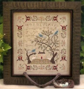 Birds of a Feather cross stitch sampler