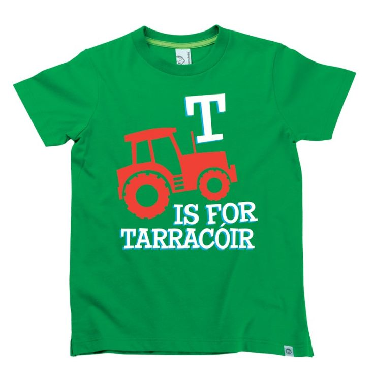 T is for Tarracóir Kids Alphabet T-Shirt by Hairy Baby