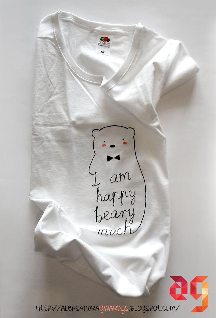 I am happy beary much #doodlaki #tshirt