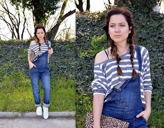 Get this look: http://lb.nu/look/8161627  More looks by Marija M.: http://lb.nu/stylesensemoments  Items in this look:  Bershka Denim Dungarees, Pull & Bear Crop Top, White Sneakers   #casual #sporty #street #ootd #outfit #look #lookbook #style #fashion
