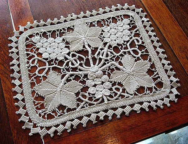 Image detail for -Em's Heart Antique Linens -Vietnamese Crochet Lace Centerpiece
