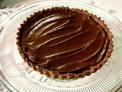Vegan & Raw Chocolate Pudding Pie