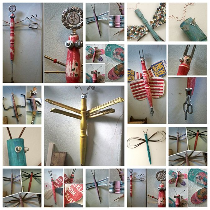 recycled junk butterflies and dragonflies - click through to see them up close and personal.