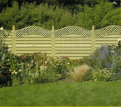 Something different....wavy wooden fence panels- oh I like these!