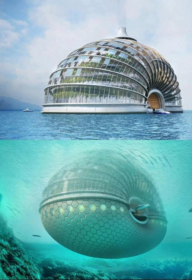 "Ark Hotel In China!! AMAZING ♥ Should the polar ice caps melt and we're in a ""Waterworld"" scenario."