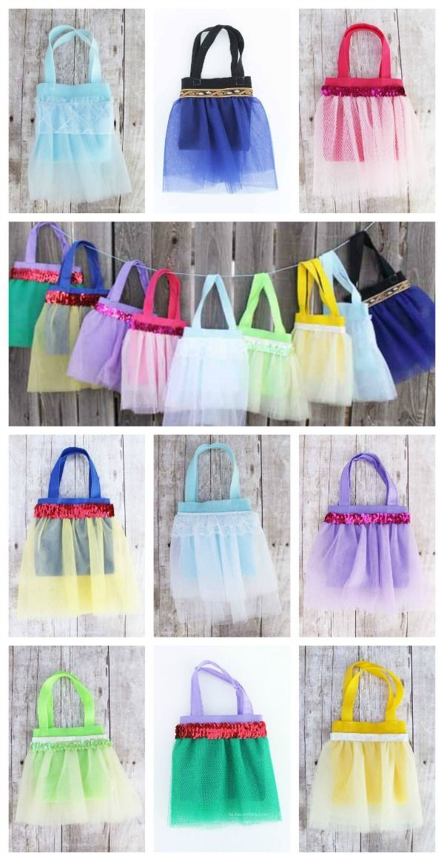Disney Princess tutu favor bag tutorial - how to make a bag for each princess