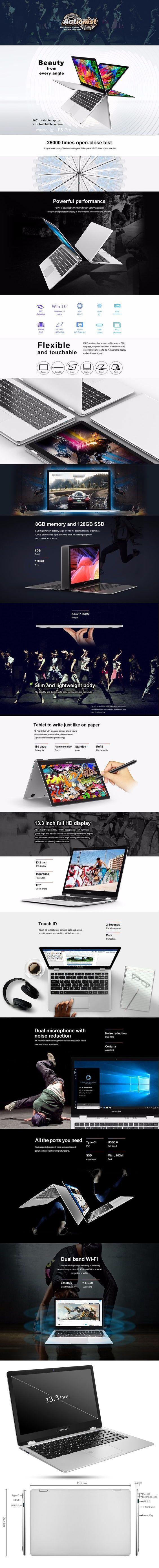 Teclast F6 Pro Notebook Fingerprint Recognition  -  SILVER