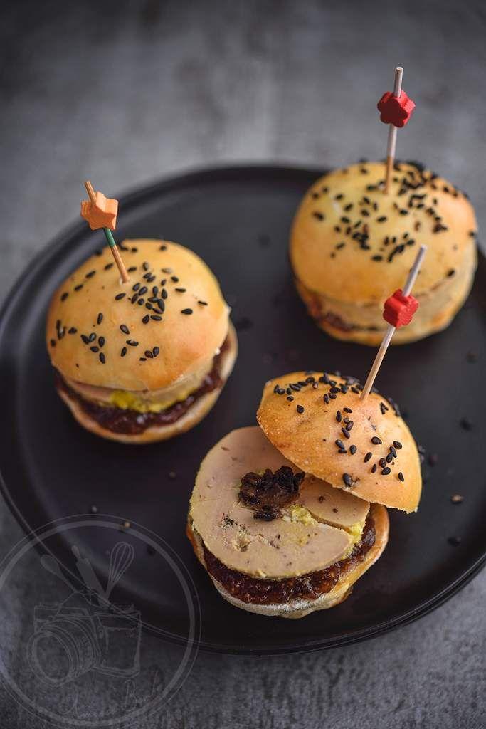 Mini burger foie gras et truffe