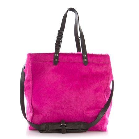 Fedra bag,  Horse fuxia leather