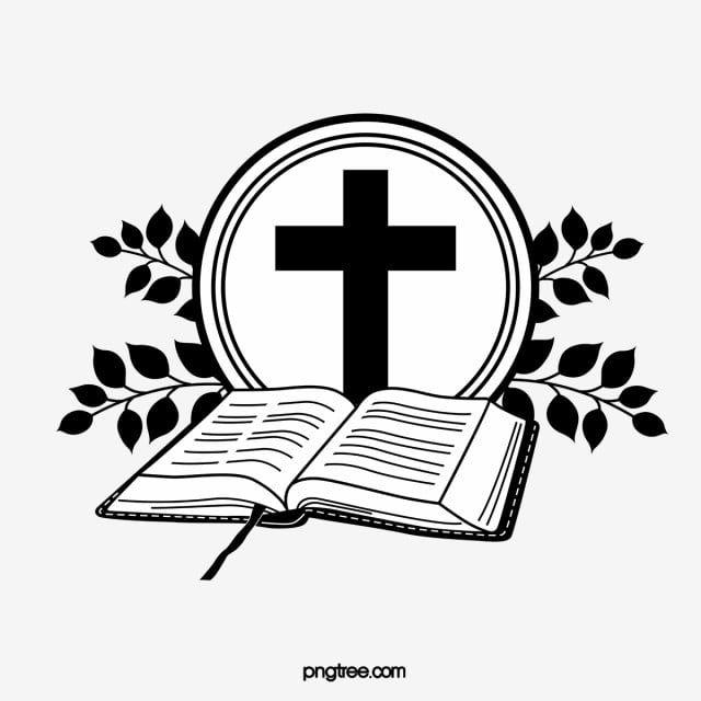 Gambar Salib Hitam Dan Penyebaran Alkitab Salib Alkitab Daun Png Dan Vektor Untuk Muat Turun Percuma Bible Vector Jesus Wallpaper Church Logo