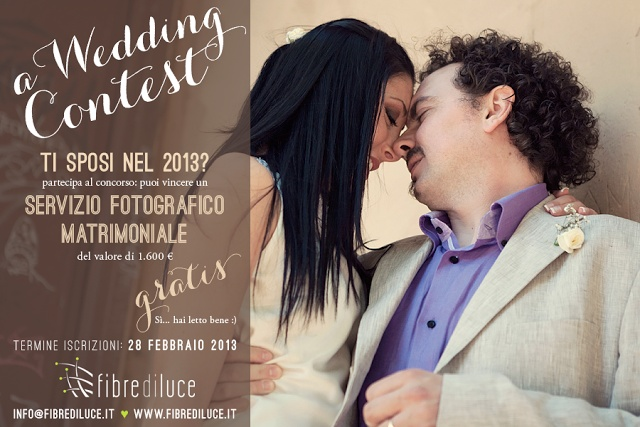 Bride in Italy: { Giveaway } A wedding contest by Fibre di luce