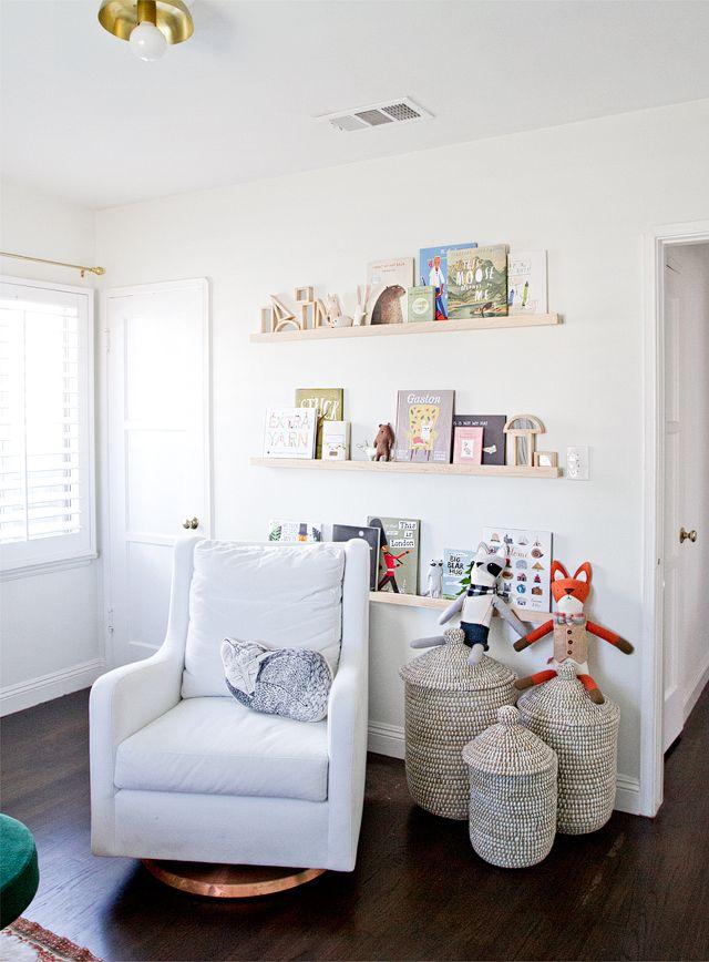 Baby nursery shelving design ideas