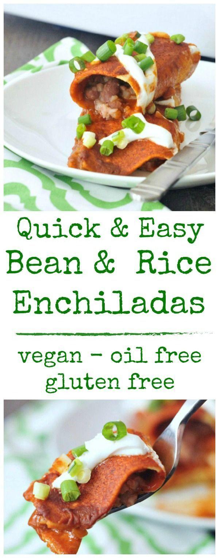 Bean Rice Enchiladas @spabettie #vegan #glutenfree