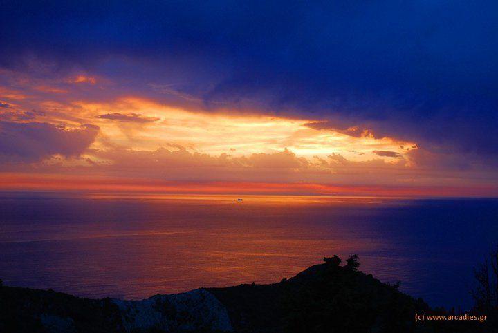 Sunset at Lefkada, Greece.