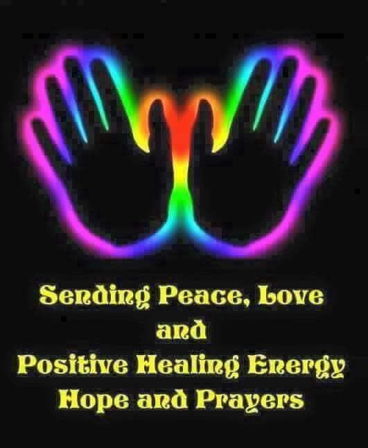 Sending peace and love energy