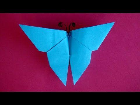 Servetten vouwen:  Vlinder - Vlinder maken van papier - Knutselen met papier - YouTube