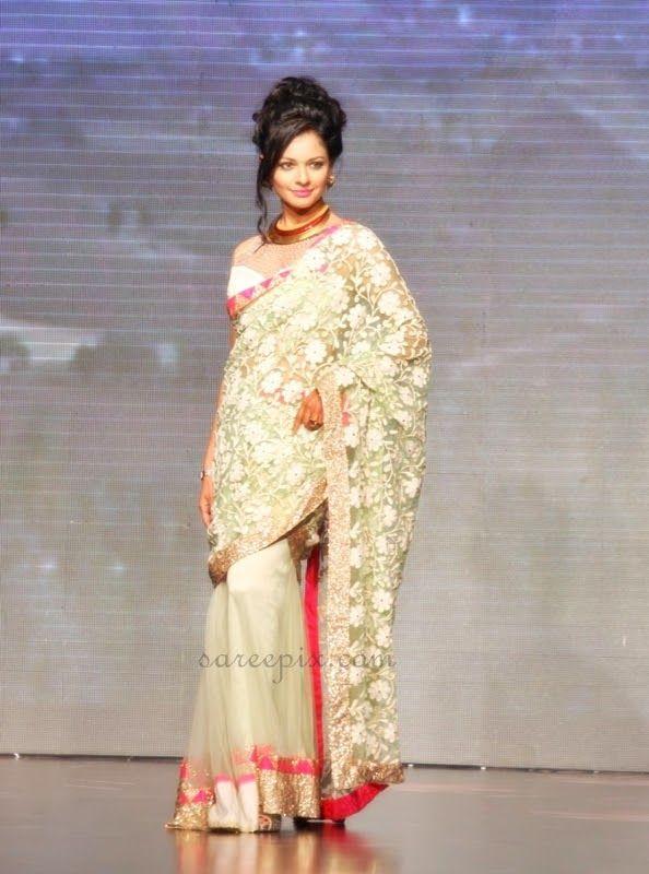 Pooja kumar saree ramp walk at IIJW 2013 | Beautiful saree and lehenga pictures