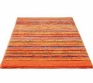 Esprit - Cool Stripes Orange Bath Mat Rug