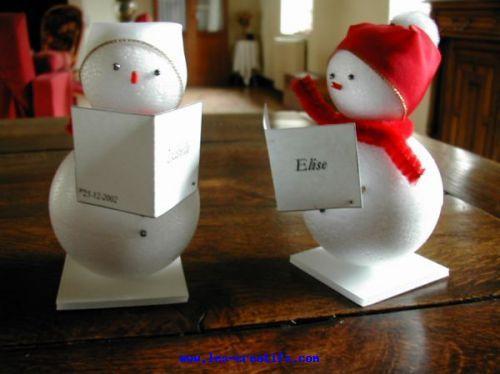 Marque places bonhommes de neige noel pinterest noel - Tables de noel decoration ...
