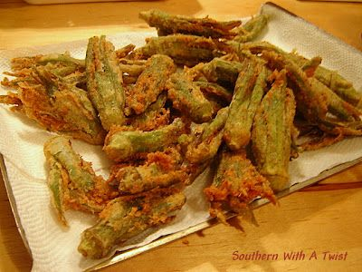"Okra Chips like the ones at ""the Farmer's Market in Charleston, SC""!   Southern with a Twist"