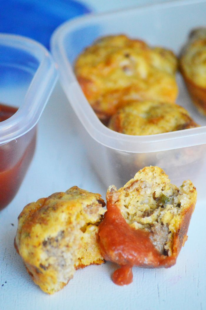 Taco Muffins- Such a fun lunchbox item! My kids absolutely love them and they are perfect for the freezer!