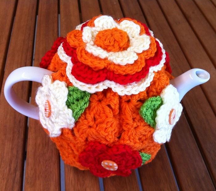 Colourful Retro Tea Cosy - by AdorableCrochet on madeit