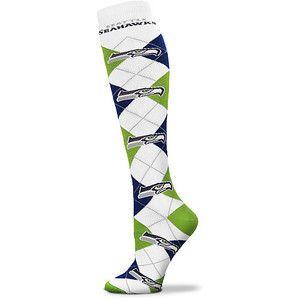 seattle seahawks apparel for women | Women's Seattle Seahawks Knee High Socks - Polyvore