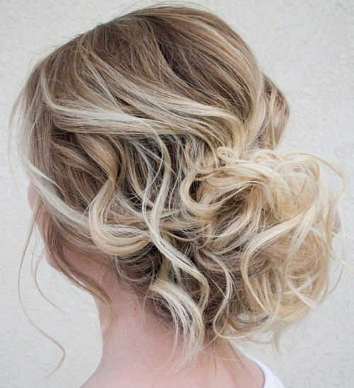 Simple Formal Hairstyles For Thin Hair : The 25 best loose curly updo ideas on pinterest