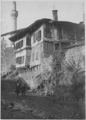 Greece - The city of Veria (1918). old houses