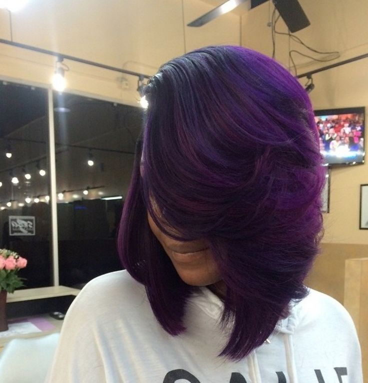 10 Ways to Wear Purple Hair Flawlessly ======================== Go to Bitly.com/PurpleHairColor/ ======================= Gorgeous bob styled and colored by #HoustonStylist @jocassodastylist on Instagram