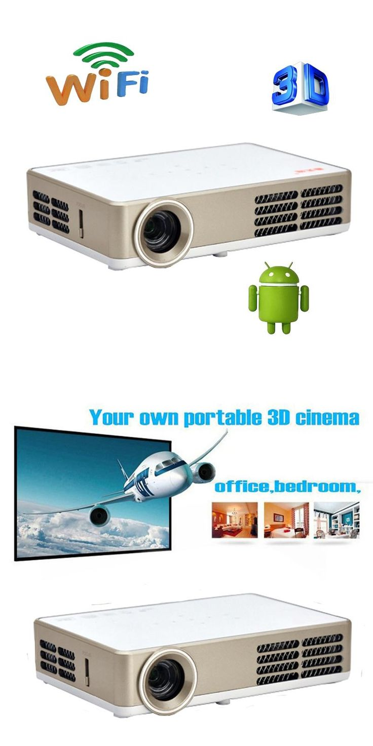 [Visit to Buy] Smart Bluetooth Android 4.4 Wifi HDMI USB TF Blue Ray 4K3D Pico Portable HD 1080P LCD Video LED Mini DLP Projector For Iphone 4K #Advertisement
