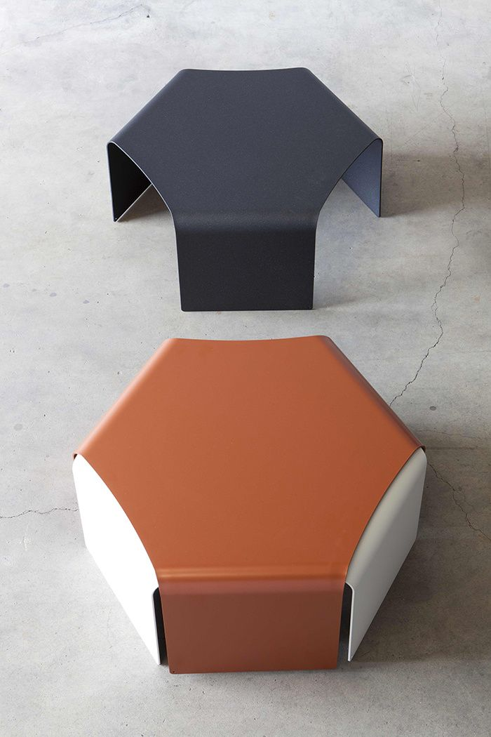 Tables basses Ponant, Quaglio Simonelli (Matière grise)