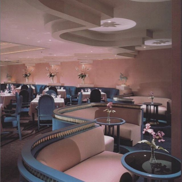Boccaccio Houston Texas From Dining By Design 1985 Kristinit Interiors Artdeco Inspo Pink Vin Retro Interior Design Retro Interior 80s Interior Design