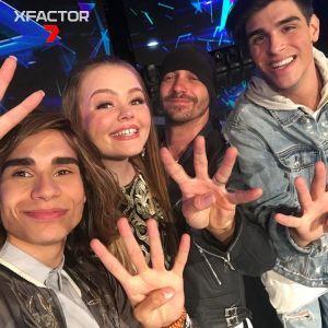 <i>X Factor Australia</i> 2016 finalists Isaiah Firebrace, Amalia Foy, Vlado Saric and Davey Woder.