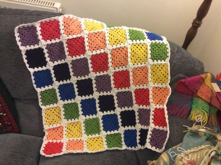 Rainbow blanket for baby Betsy.
