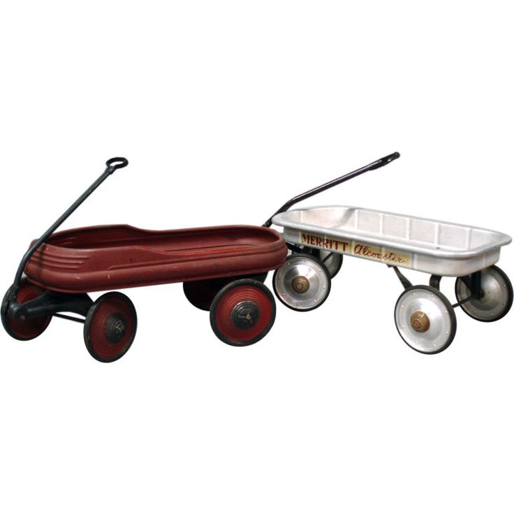 Pair of Children's Pull Wagons | From a unique collection of antique and modern toys at http://www.1stdibs.com/furniture/more-furniture-collectibles/toys/