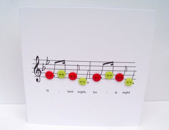 Silent Night Christmas Card  Christmas Music with by Nikelcards
