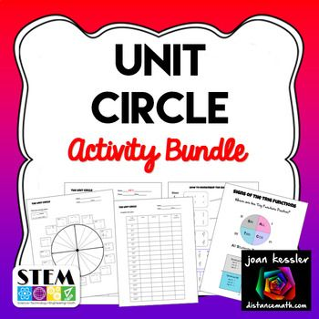 Unit Circle Activity Pack This resources is designed for Trigonometry, Algebra 2, and PreCalculus. Having a solid background and grasp of the basic Trig functions is invaluable in higher math. Look at all that's Included: ☑