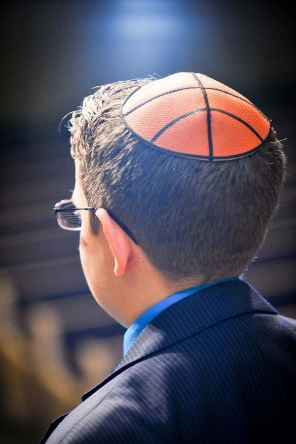 Basketball Yarmulkes, Kippot - Bar Mitzvah Theme Ideas {A Magic Moment} - mazelmoments.com