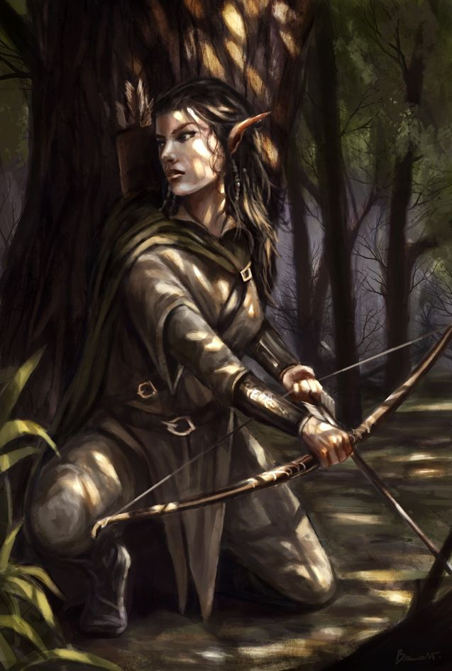 Wood elf by Bakirasan on deviantART just with shorter hair