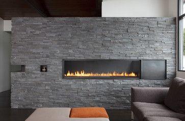 Fireplace - Bastasch Residence - modern - living room - san francisco - Martinkovic Milford Architects