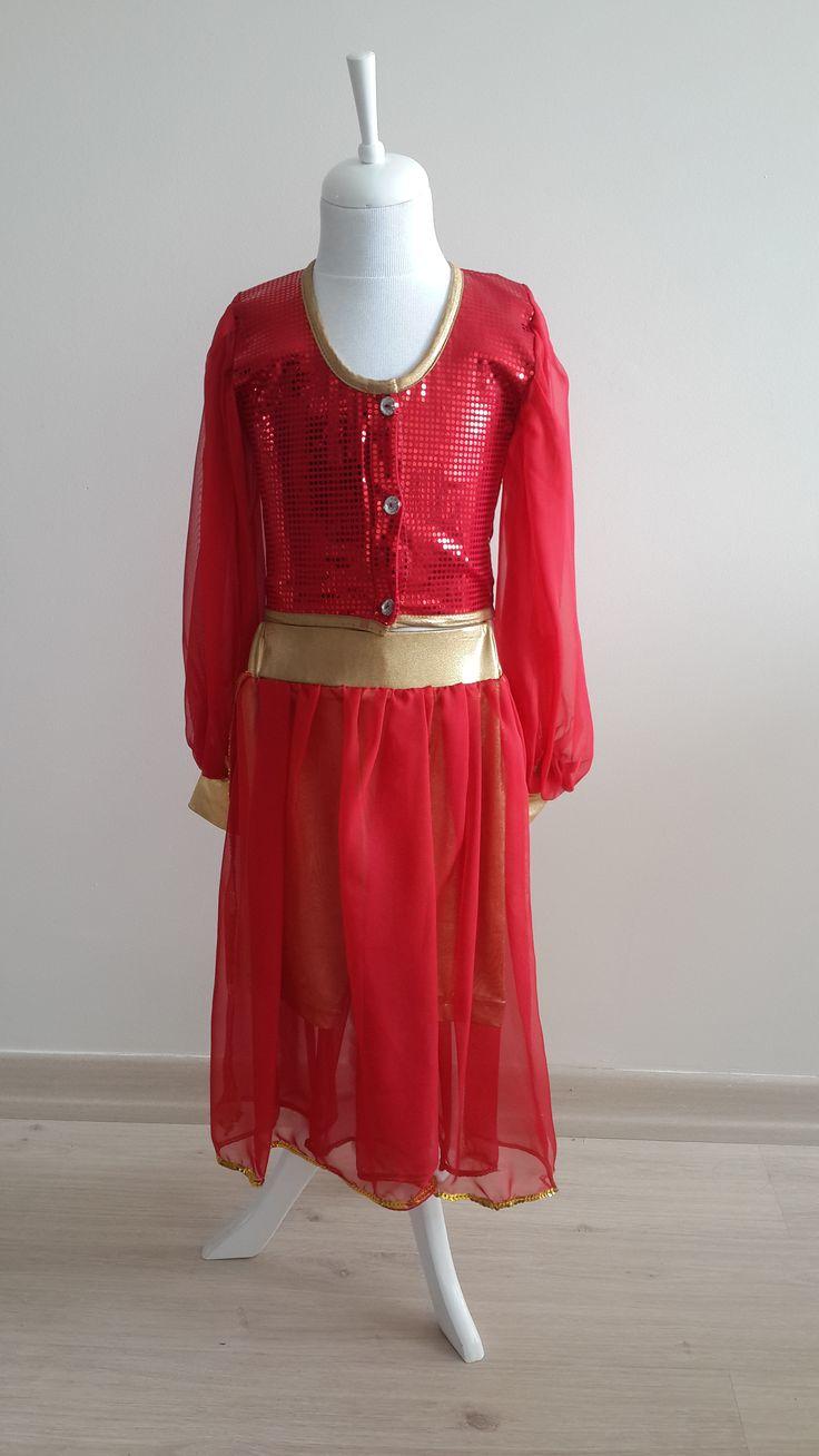 Kırmızı aArı Simli Kostüm