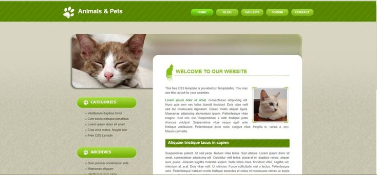 Animals Pets Free Css Template 56 Best Free Animals Pets Html Website Templates Pets Pet Clinic Pet Kennels